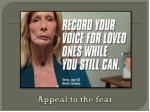 appeal to the fear