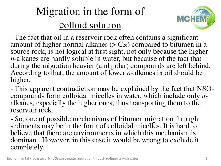 Migration in the form of