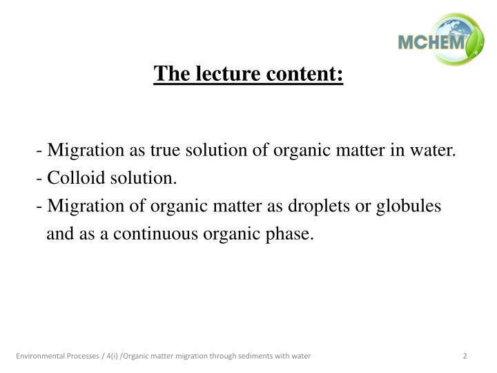 The lecture content