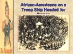 african americans on a troop ship headed for france