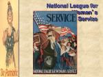 national league for woman s service
