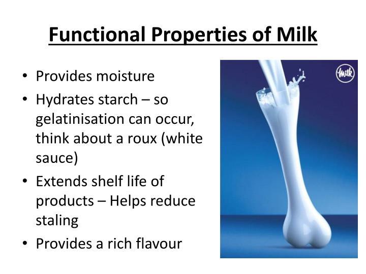Functional Properties of Milk