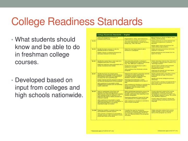 College Readiness Standards