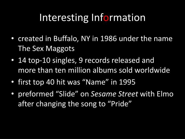 Interesting Inf