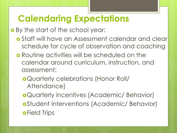 Calendaring Expectations
