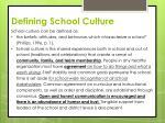 defining school culture
