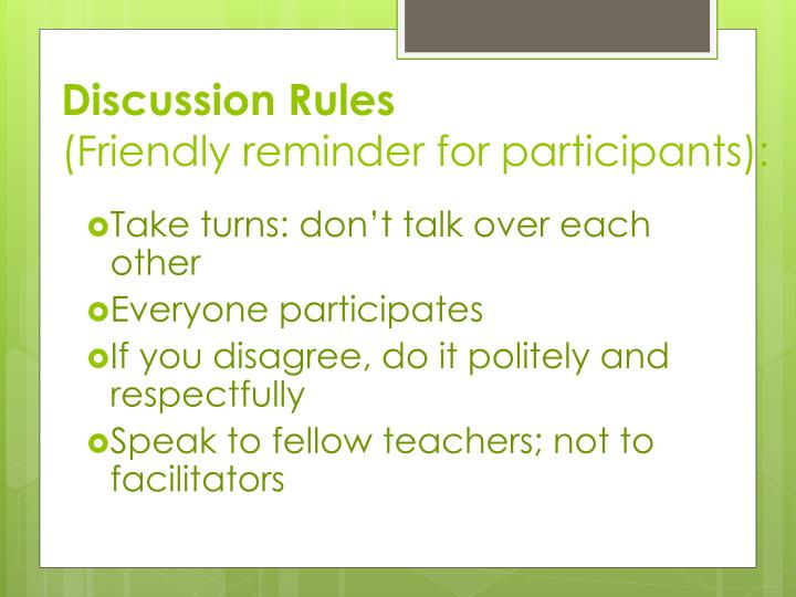 Discussion Rules
