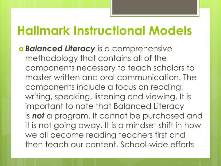 Hallmark Instructional Models