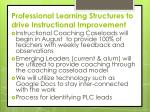 professional learning structures to drive instructional improvement