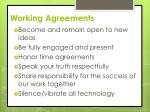 working agreements