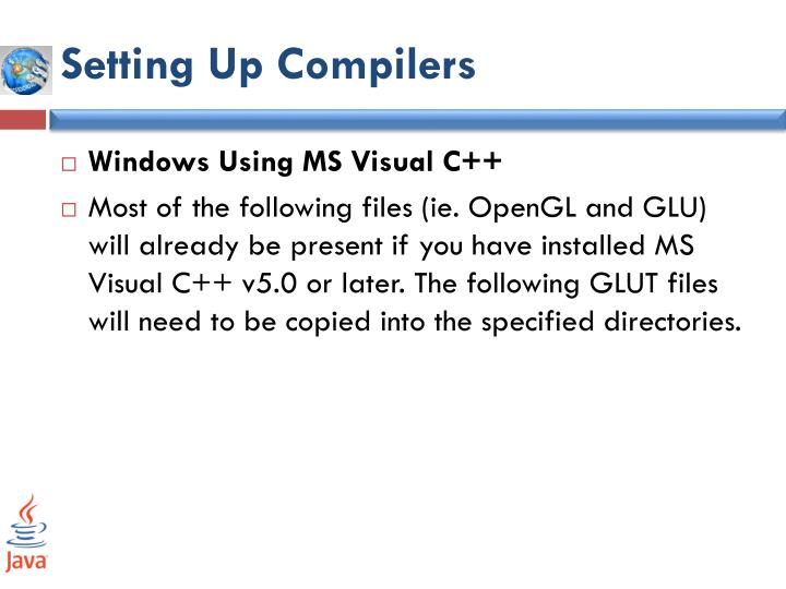 Setting Up Compilers