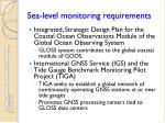 sea level monitoring requirements1