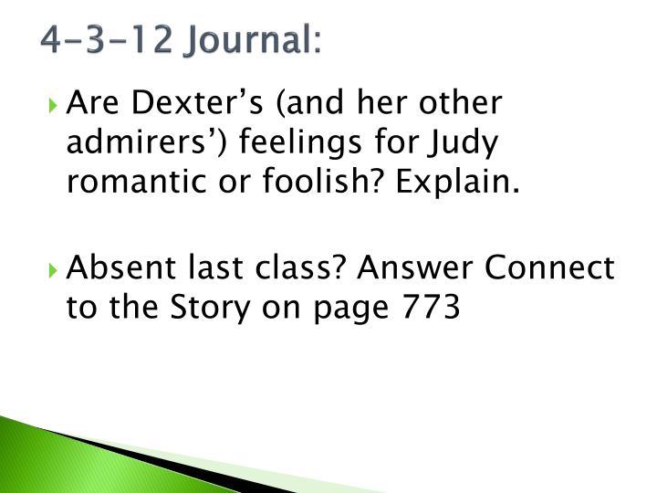 4-3-12 Journal: