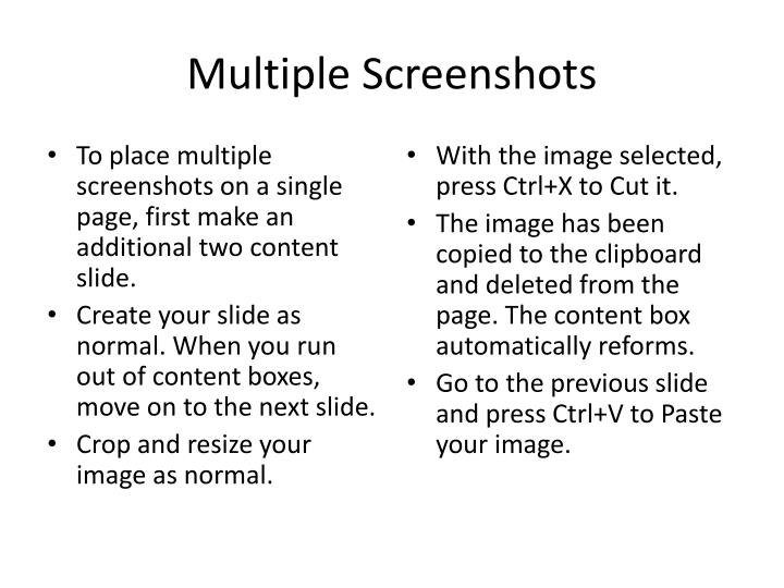 Multiple Screenshots