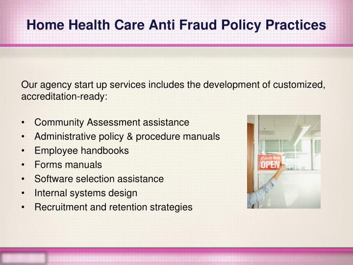Home health care anti fraud policy practices2