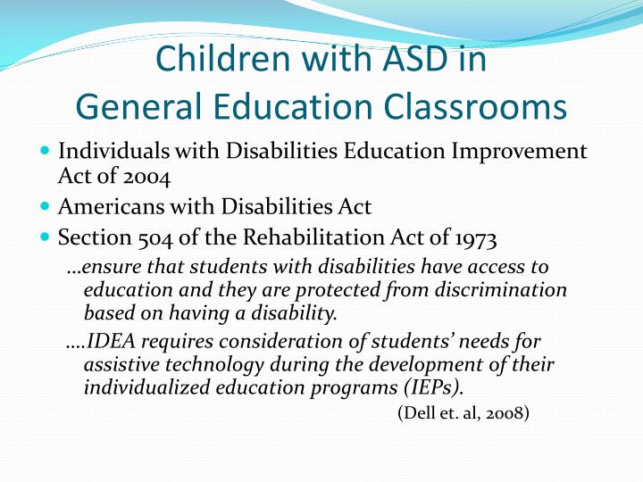 Children with ASD in