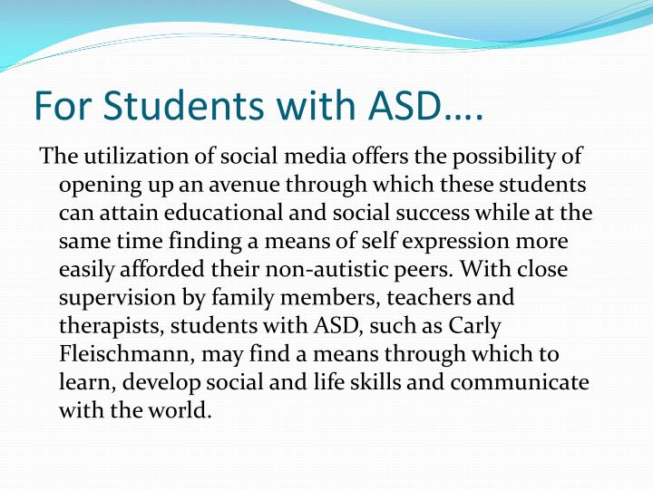 For Students with ASD….