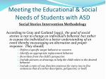 meeting the educational social needs of students with asd