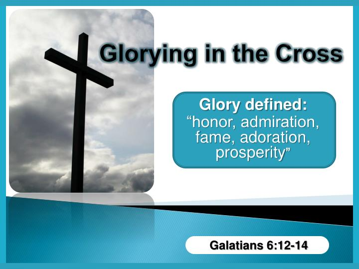 glorying in the cross