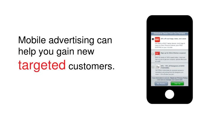 Mobile advertising can help you gain new
