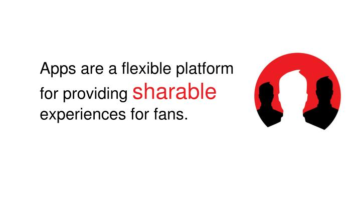 Apps are a flexible platform for providing