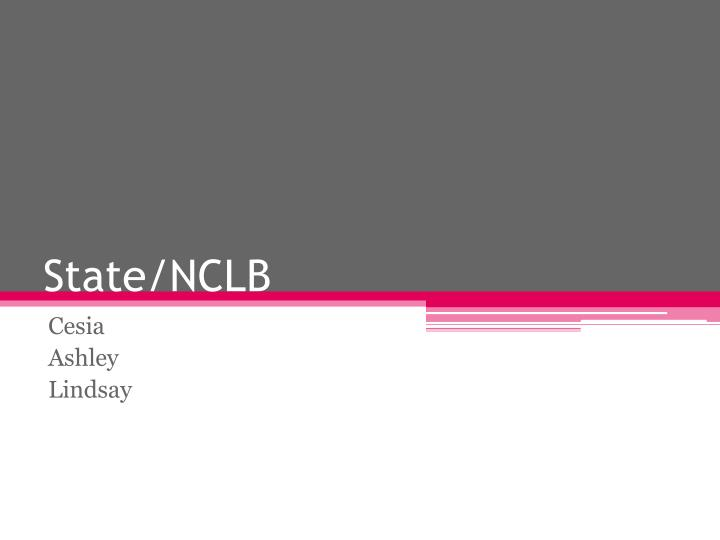 State nclb