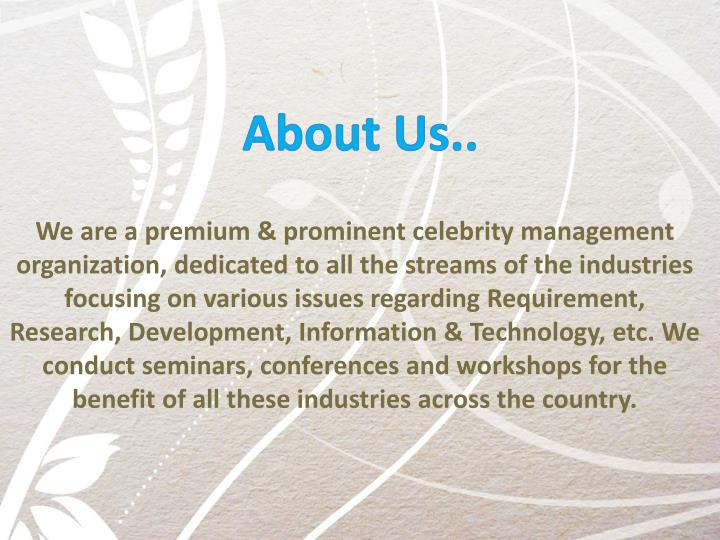 About Us..