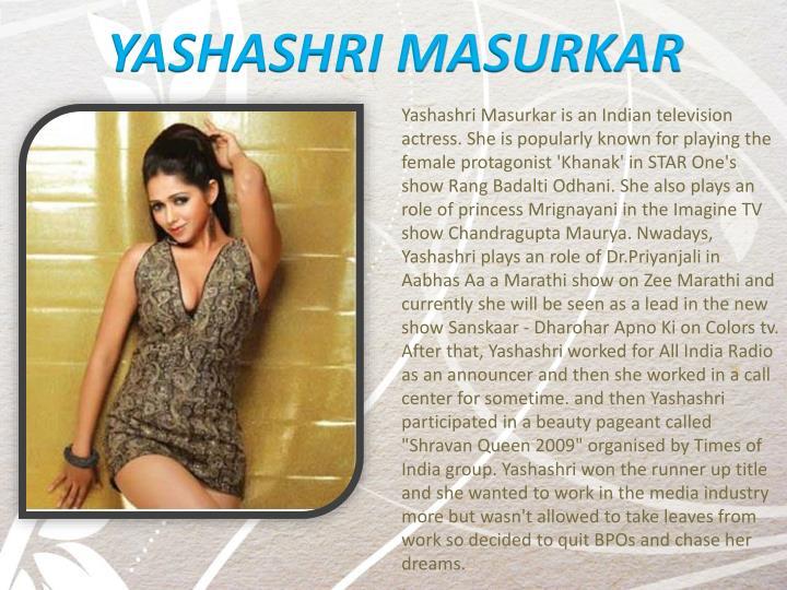 YASHASHRI MASURKAR