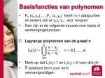 basisfuncties van polynomen
