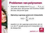 problemen van polynomen