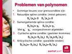 problemen van polynomen7