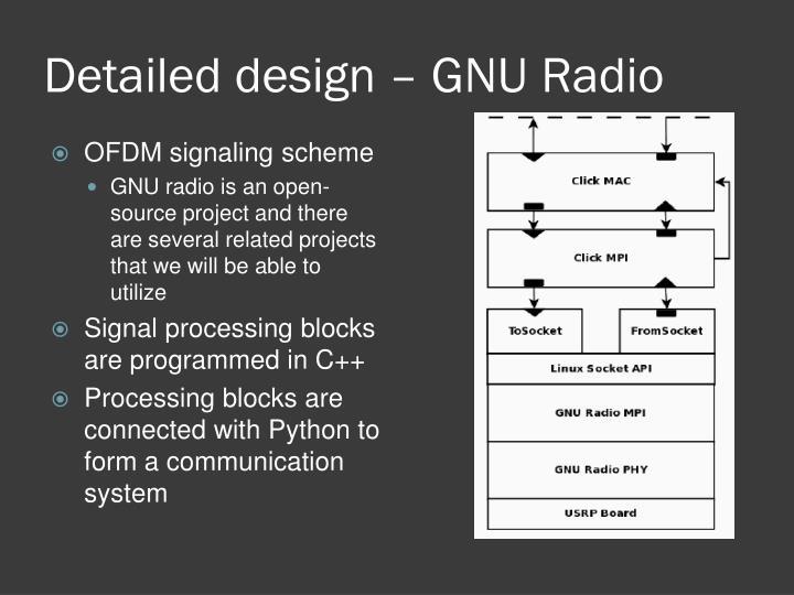 Detailed design – GNU Radio