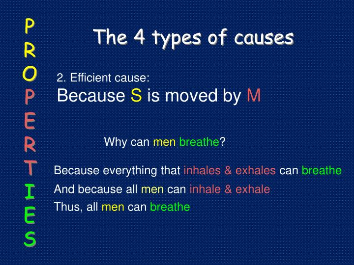 The 4 types of causes