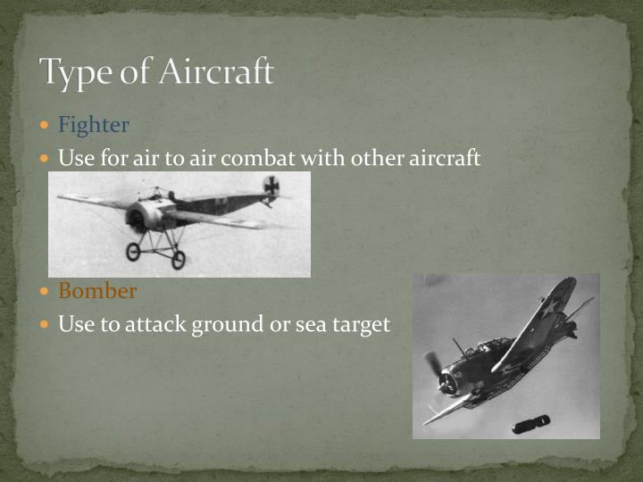 Type of aircraft