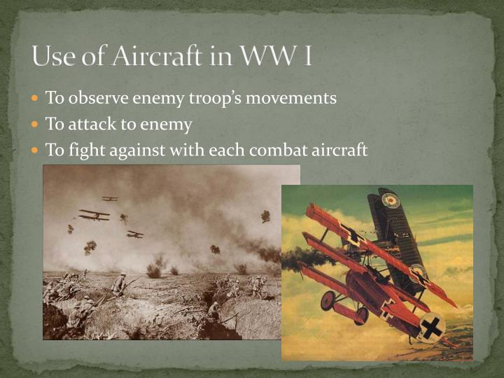 Use of aircraft in ww i