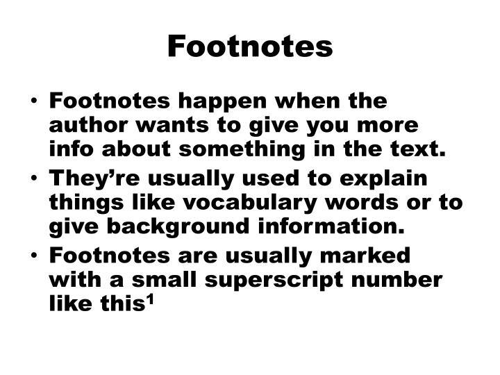 Footnotes