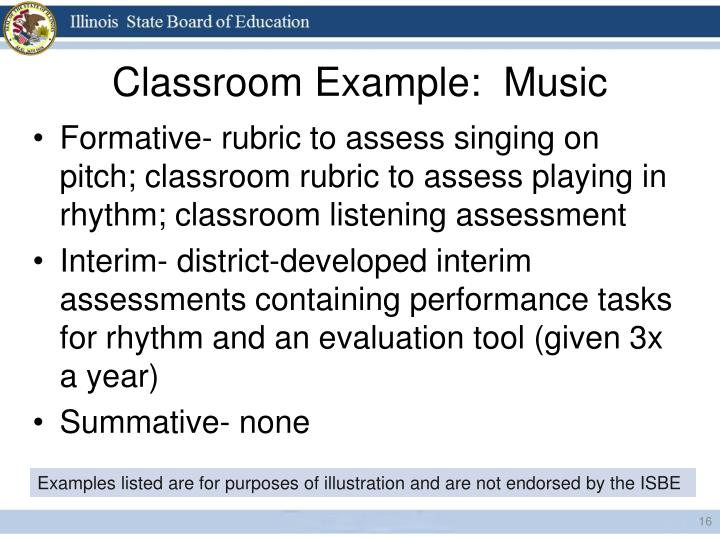 Classroom Example:  Music