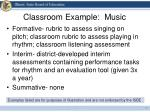 classroom example music