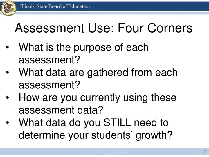 Assessment Use: Four Corners