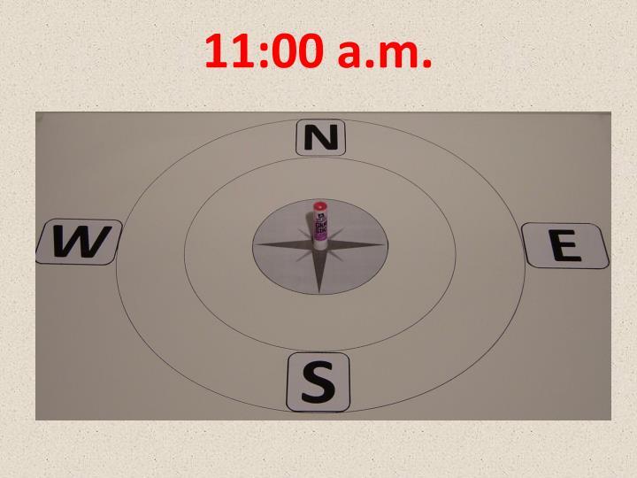 11:00 a.m.