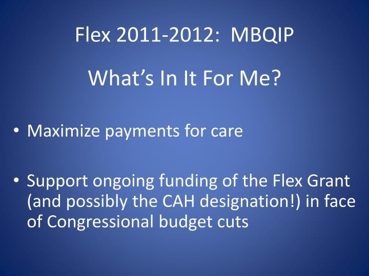 Flex 2011-2012:  MBQIP