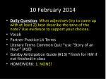 10 february 2014
