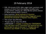 19 february 2014