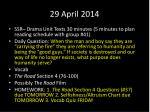 29 april 2014