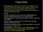9 april 2014
