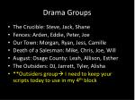 drama groups