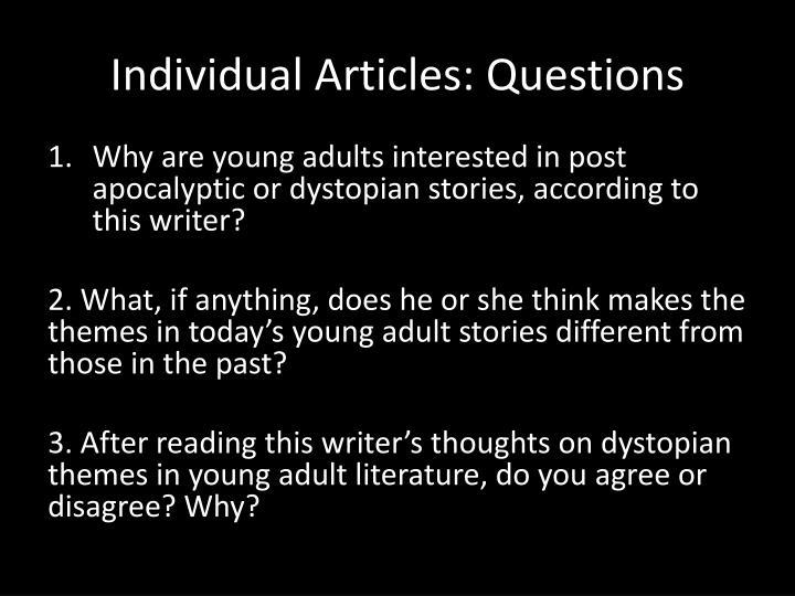 Individual Articles: Questions