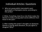 individual articles questions