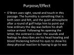 purpose effect