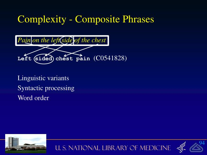 Complexity - Composite Phrases